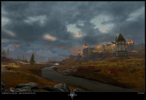 Whiterun At Dusk - TESV by Neyjour