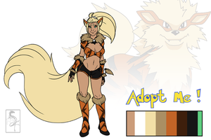 Poke'Girl Adoptable 1 : Arcanine [ CLOSED ] by Arofexdracona