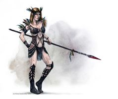 elvish warrior by weremoon