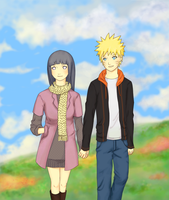 NaruHina: A Spring Day Stroll by mellowyellow2007