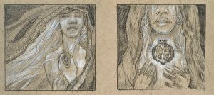 Persephone's Lament Preliminary Drawings by AngelaSasser