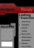 Tandy name badge design by angusfk