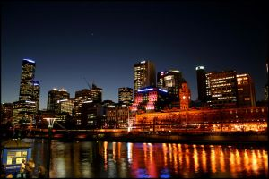 Melbourne Nightscape by Lu-Sam-Fer