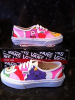 Adventure time Vans 3 by VeryBadThing
