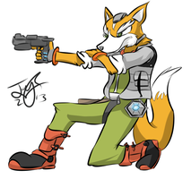 fox mccloud by Pangorondo