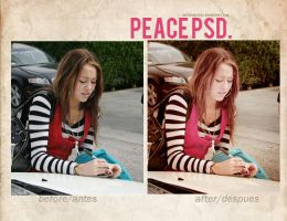 Peace PSD by delicatepetals