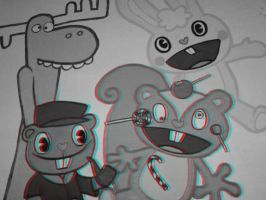 happy tree friends 3D by shanahben