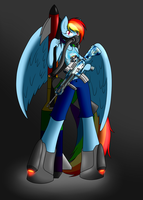 Armed and Ready: Dashie by Call-Me-Jack