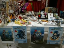 My Table at Sakura Con by TheSorceressRaven