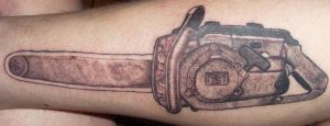 Chainsaw Tattoo WIP by Fagertveit