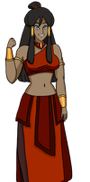 Fire Nation Korra by PerryWhite