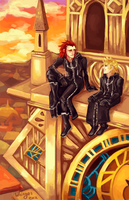 axel and roxas by whinges