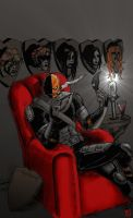 Deathstroke kickin it. by RamonVillalobos