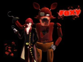 [MMD] FNaF Foxy wallpaper by Kantaro-Luxpus