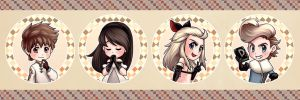 Bravely Default badges! by cherlye