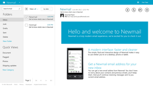 Newmail (Hotmail) concept by arcticpaco