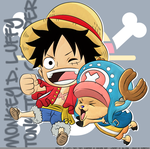 Straw Hat and Reindeer Chibis ! by ChaotixxDA