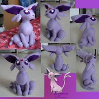 Espeon plush by Fenrienne