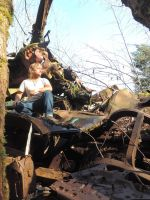 Car Graveyard Forest~ 2/15/2015~4 by Mathayis
