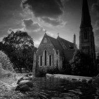 Sunset by St Alban's Church by ilsilenzio
