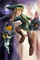 Link and Midna by JesnCin