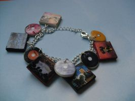 Fall Out Boy album charm bracelet by InsaneJellyBean95