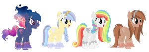 New Cloud Pony types + adopts CLOSED by SugarMoonPonyArtist