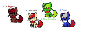 Cute Soda Kitty Adoptables! CLOSED by meloniigayle