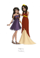 Greek Goddesses: Demeter and Persephone by JadeAriel