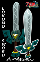 Zelda Spirit Tracks - Lokomo Sword Model by Hanimetion