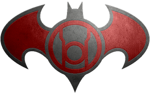 Batman Red Lantern Metalic Logo by KalEl7