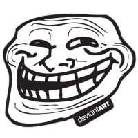 Trollface Sticker by deviantARTGear