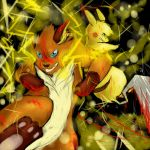 Double battle-- Pikachu and Raichu by w0lf--61