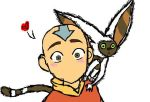 Aang and Momo by mizzytwo