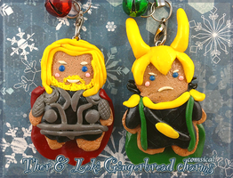 Thor and Loki Gingerbread Charms by Comsical