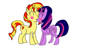 Twilight x Sunset Kiss by Sonic2125
