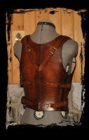 leather armor cuirass  back view by Lagueuse