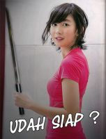 Ghaida JKT48 with Katana by SaintOfArt