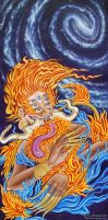 Celestial Fire Deity by JulieBeloussow