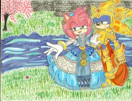 The lady Of the Lake and her Knight by SONICJENNY