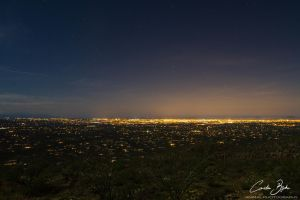 Tucson at night by CamStatic
