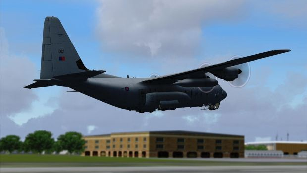 Departing Brize Norton by Boeing787
