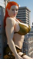 Cassie Croft 4 by Tiny-Mk by Giantess-Cassie
