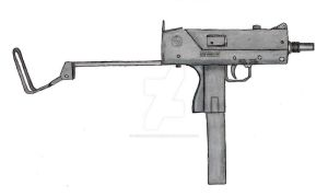 .45 Mac-10 submachine gun by stopsigndrawer81