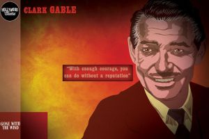 Postal Series - Clark Gable by caiobuca