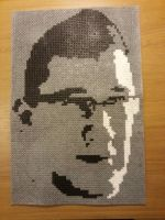 Markiplier made with beads by Dannedanker