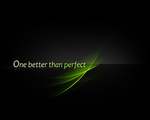 One Better Than Perfect - Wall by solinus9
