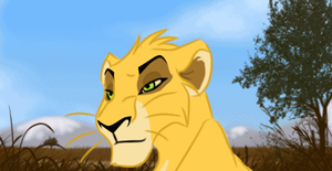 Cub Ahadi Animation Colored by UnknownLioness