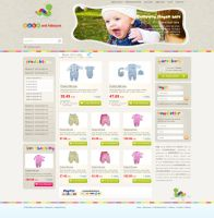 Baby and Kids site layout by fluerasa