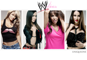WWE Divas by UniqueOneDesigns